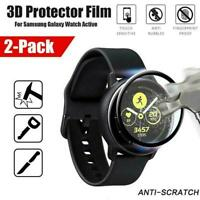 3D Curved Tempered Glass Screen Protector For Samsung Galaxy Watch Active L2D8
