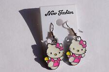 Earrings, Pierced Ears, Hello Kitty, Running Kitty, Lot 3