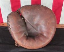 Vintage 1940s Spalding Leather Catchers Mitt Baseball Glove Rudy York Marvel