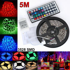 5M Strip Light RGB SMD 3528 300led DC 12V Lamp Flexible Waterproof String Lights