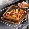 2pcs Air Oven Fryer Non-Stick Basket Pan Chef Crisper Cookie Sheet Tray Copper