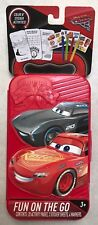 DISNEY PIXAR CARS 3 COLOR STICKER ACTIVITIES FUN ON THE GO RED CASE NEW