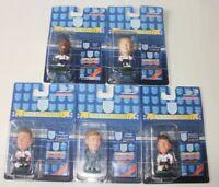 5 X Corinthian Headliners England Squad Football Figures Hoddle Series 3