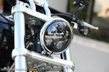 "5.75"" LED Projection Head Lamp BLACK for Harley Davidson Dyna Sportster"
