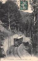 CPA 88 GERARDMER LE TOURNANT DU COLLET (TRAIN