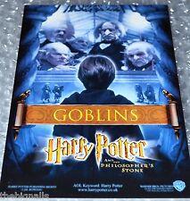 Harry Potter 1st Film Cinema Promo Postcard GOBLINS