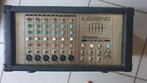 Powered Mixer LEPAS6200 6 Channel Mono 200W Used, Working, Legend