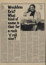 Wreckless Eric what kind of name is that? Interview/article 1977