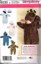 Simplicity Pattern 8030 Baby Fleece Bunting and Hat   NB  1-3 mth  6 mths