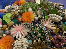 Vintage Costume Junk Jewelry For Repair Or Crafting Small Flat Rate Full