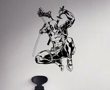 Deadpool Wall Vinyl Decal Comics Superhero Vinyl Sticker Home Wall Art Decor 15