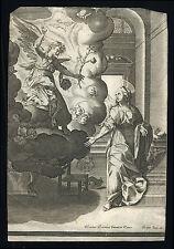 santino incisione 1600 ANNUNCIAZIONE DI MARIA dopo m.arconio J. ISAAC