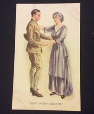 1918 MILITARY WWI Soldier Says Goodbye Dont Worry About Me Post Card #025