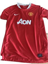 Manchester United Pogba Aon Nike DriFit Jersey Red W/ Black Collar Adult Size Xl
