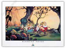 Affiche Poster Walt Disney Blanche Neige Nains 60x80