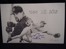KEN CAMINITI MVP, SD PADRES LIMITED EDITION AUTOGRAPHED 11 x 17 LITHOGRAPH