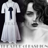 VINTAGE LAURA ASHLEY DRESS 20s GATSBY WEDDING 40s 30s 50s VICTORIAN SAILOR VAMP