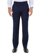 Van Heusen Poly Blend Flat Front Slim Fit Trouser (vstmm871) 82 Regular Ink