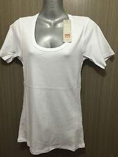 Ladies Sz 14 Rivers BRAND White Short Sleeve Round Scoop Neck T Shirt Top