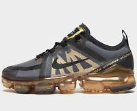🔥 Authentic Nike Air VaporMax 2019 ® ( Men Sizes UK: 11 & 13  ) Black / Gold