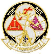 York Rite Of Freemasonry Masonic Freemason Knights Templar Patch