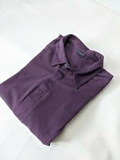 Paul Smith Smart Long Sleeve Purple Polo Top - Size M Medium