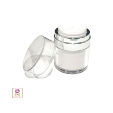 Airless Pump Jars Refillable Beauty Packaging Container 30ml 1oz 18 pcs #3630