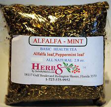 Herbs by Merlin ALFALFA-MINT (Basic Health Tea) Organic Tea 2.8 oz