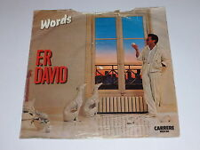 "F. R. DAVID - Words - 1982 UK 7"" Single"