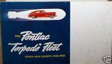 1941 pontiac torpedo fleet sales brochure used original