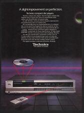 1985 TECHNICS SL-P2 Compact Disc Player - CD -  VINTAGE AD