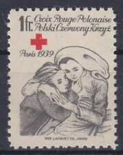 POLISH EXILE GOVERNMENT in FRANCE 1942 MNH Red Cross