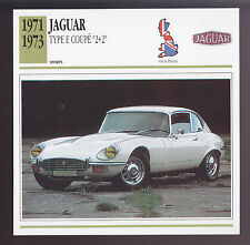 1971 1972 1973 Jaguar Type E Coupe 2+2 British Car Photo Spec Sheet Info CARD