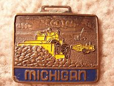 Michigan Dozer Enameled Watch Fob MAO-14