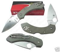Spyderco Dragonfly Foliage Green G-10 Plain C28GPFG NEW