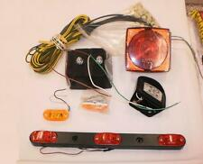 Complete LED Trailer Light Kit Red Amber Clearance Marker Mounting Wiring