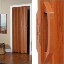 Vinyl Accordion Folding Slide Door Durable Panels Closets Tight Spaces - Brown