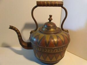 Vintage Moroccan Copper and Brass Tea Pot
