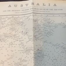 LARGE Vintage 1967 Nautical Chart Map Northern Part Australia and Islands 41x28