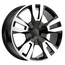 "4-OE Performance 188BM 22x9 6x5.5"" +24mm Black/Machined Wheels Rims 22"" Inch"