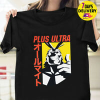 My Hero Academia Anime All Might Plus Ultra Men's T Shirt Black Size S-3XL