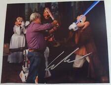 GEORGE LUCAS Autographed 8x10 Photograph AUTOGRAPH w/ MICKEY MOUSE Characters