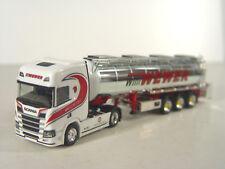 Scania CR HD Chrom Tanksattelzug WEWER -  LKW Herpa 1:87 - 308427   #E