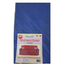 Mobilier de tissu couleur bleu 270x280 couvre tout granfoulard Housse Coton