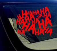 "HAHAsqFCPurp4/"" Haha Sticker Decal Joker Serious Evil Body Window Car Purple 4/"""