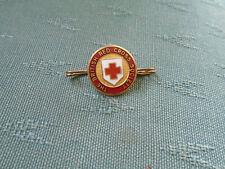 VINTAGE BRITISH RED CROSS SOCIETY BROOCH - ENAMEL PIN BADGE