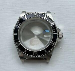 Submariner Watch Case 40mm Stainless Steel Polished Aluminium Bezel 8215 / 2813