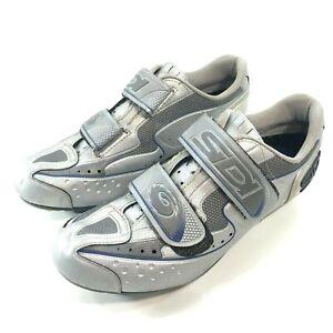SIDI Cycling Bike Cleats Shoes EUR Size 40 W Silver US Size Men's 7  Women's 9.5