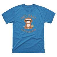 Not Fast Not Furious Sloth Yoga T-Shirt Funny Sloth  Short Sleeve  Men's Tee