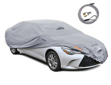 """Waterproof Car Cover Outdoor Wind UV Snow Proof w/ Strap & Lock Fit up to 210"""""""